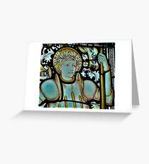 Saint George Up Close Greeting Card