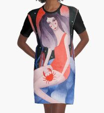Zodiac - Cancer astrology illustration Graphic T-Shirt Dress