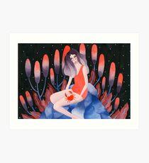 Zodiac - Cancer astrology illustration Art Print