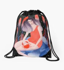 Zodiac - Cancer astrology illustration Drawstring Bag