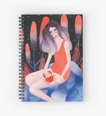 Zodiac - Cancer astrology illustration Spiral Notebook