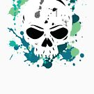 Vibrant Turquoise Skull by partimesloth