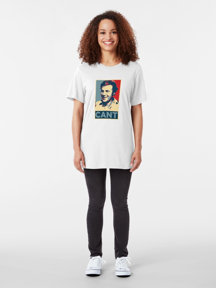 Alternate view of YES WE CANT: Barack Obama styled poster Slim Fit T-Shirt