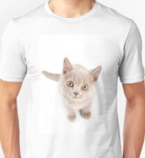 Funny cat with yellow eyes T-Shirt