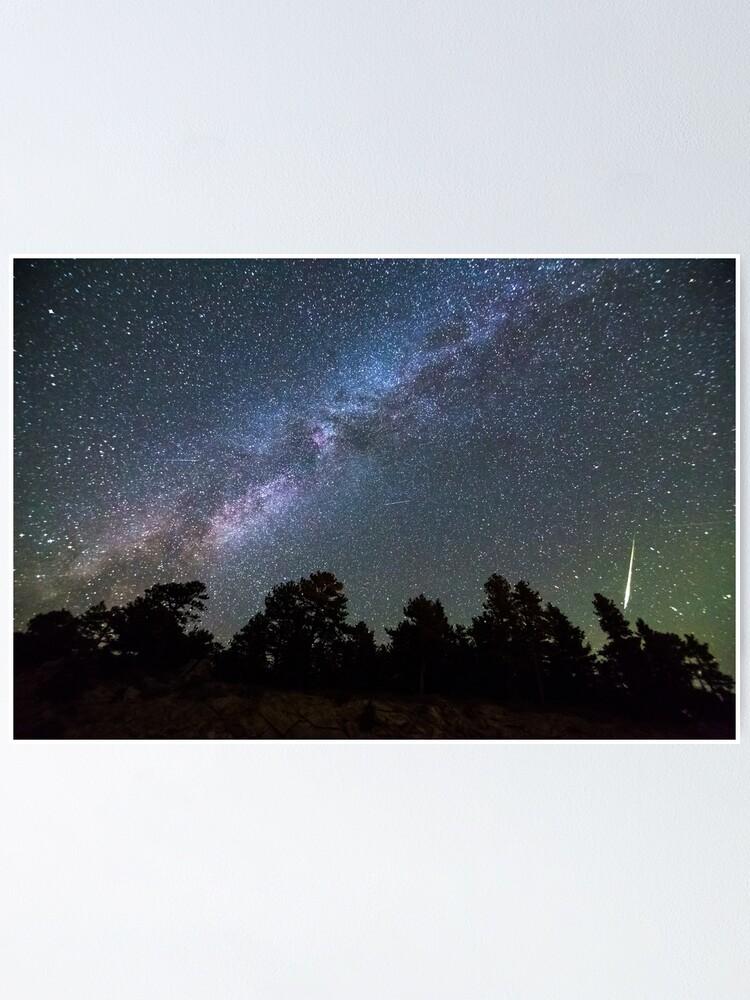 Alternate view of Perseid Meteor Poster