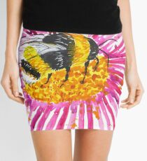 Bumble bee and flower Mini Skirt