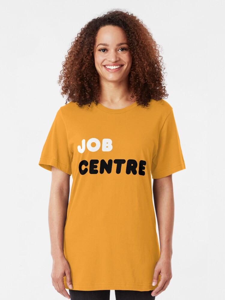 Alternate view of Job Centre - 1980s style unemployment office  Slim Fit T-Shirt