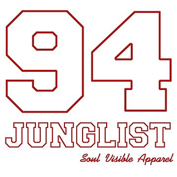 94 Junglist Red Outline Drum & Bass by SoulVisible
