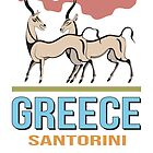 Fresco antelopes in Santorini Island - Greece by portokalis