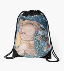 The Night Fell Down Drawstring Bag