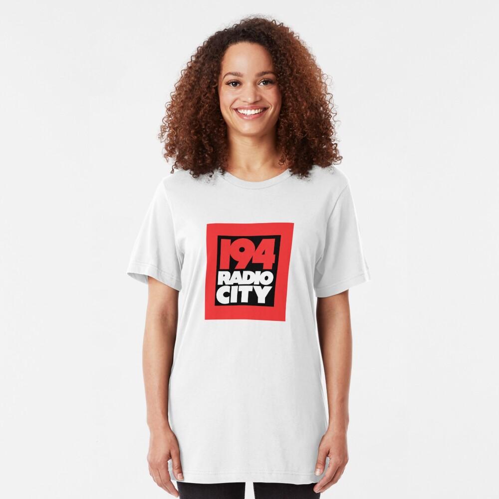 Radio City 194 Liverpool local independent radio logo Slim Fit T-Shirt