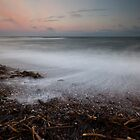 stones and seaweed, aberdour beach by codaimages