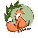 Woodland Forest Red Fox by Kaity E.