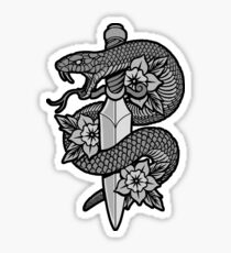 Snake & Dagger Sticker