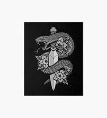 Schlange & Dolch Galeriedruck