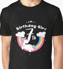 Unicorn 7th Birthday Girl - Gift For 7 Year Old Girl For 7th Birthday Girl Graphic T-Shirt