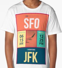 JFK-SFO Long T-Shirt