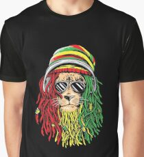 RASTA LION Rastafarian Jamaican reggae Music shirt Graphic T-Shirt