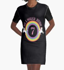 Unicorn Have A Magical 7th Birthday - Gift For 7 Year Old Girl For 7th Birthday Girl Graphic T-Shirt Dress