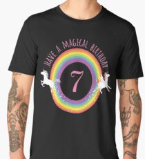 Unicorn Have A Magical 7th Birthday - Gift For 7 Year Old Girl For 7th Birthday Girl Men's Premium T-Shirt