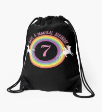 Unicorn Have A Magical 7th Birthday - Gift For 7 Year Old Girl For 7th Birthday Girl Drawstring Bag