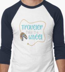 Reisender nehmen das Rad Baseballshirt mit 3/4-Arm
