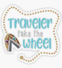 Traveler Take the Wheel Transparent Sticker