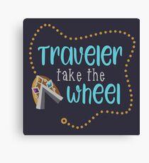 Traveler Take the Wheel Canvas Print
