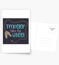 Traveler Take the Wheel Postcards