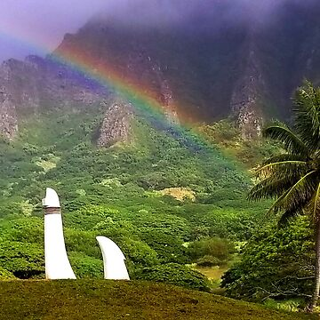 Rainbow at Kualoa  by KandisGphotos