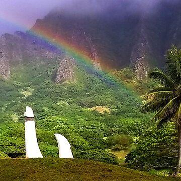 Rainbow at Kualoa  by KandisGphotos