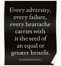 Napoleon Hill Leistungsstarke Inspirierend Zitat Poster