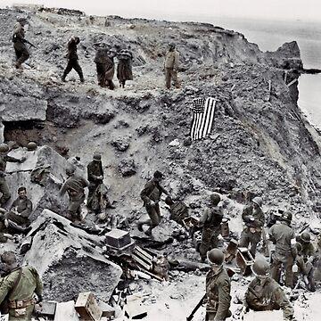 D-Day Rocks on Omaha Beach  by dianegaddis