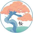 Pastel Japanese Sakura Cherry Tree by Kaity E.