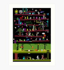 Lámina artística 50 videojuegos clásicos