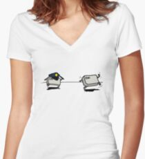 CTRL Police After ESC Women's Fitted V-Neck T-Shirt