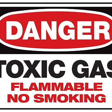 DANGER TOXIC GAS Fart Humor T-Shirt - Flatulence Humor - Bodily Noises by darkvortex