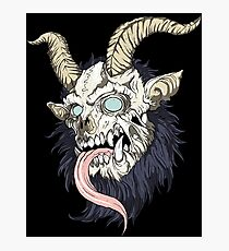 krampus evil tattoo Photographic Print