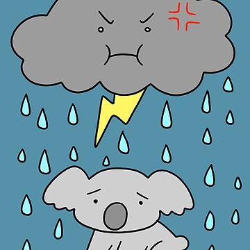 Storm Cloud Sad Koala by SaradaBoru