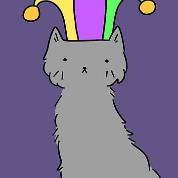 Jester Hat Blue Cat by SaradaBoru