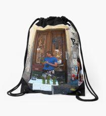 Check Out Asparagus Boy! Drawstring Bag