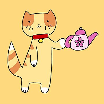 Teapot Tabby Cat by SaradaBoru