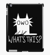 Gay OWO Cat (white text) iPad Case/Skin