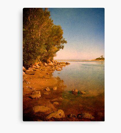 Where the Lake meets the Sea Canvas Print