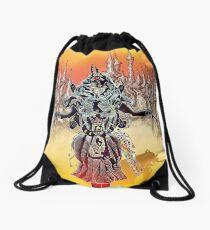 Yellow Desert Drawstring Bag
