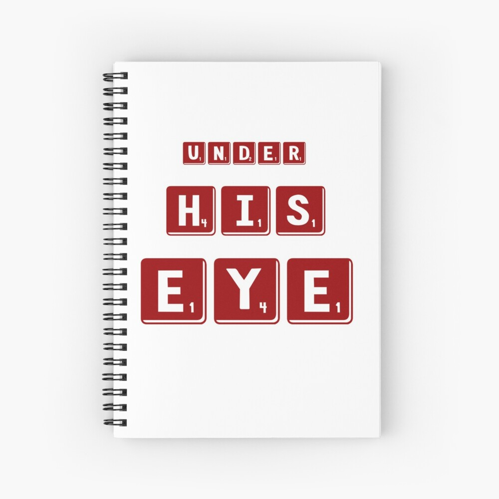Under His Eye Gift - Pop Culture Gift Spiral Notebook