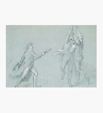 "Study for ""The Surrender of the Dutch Admiral De Winter to Admiral Duncan, October 11, 1797"": Three Figures Raising the Colors Photographic Print"
