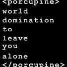 Libertarian Porcupine HTML Code  by electrovista