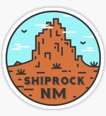 Shiprock New Mexico - Daytime Sticker