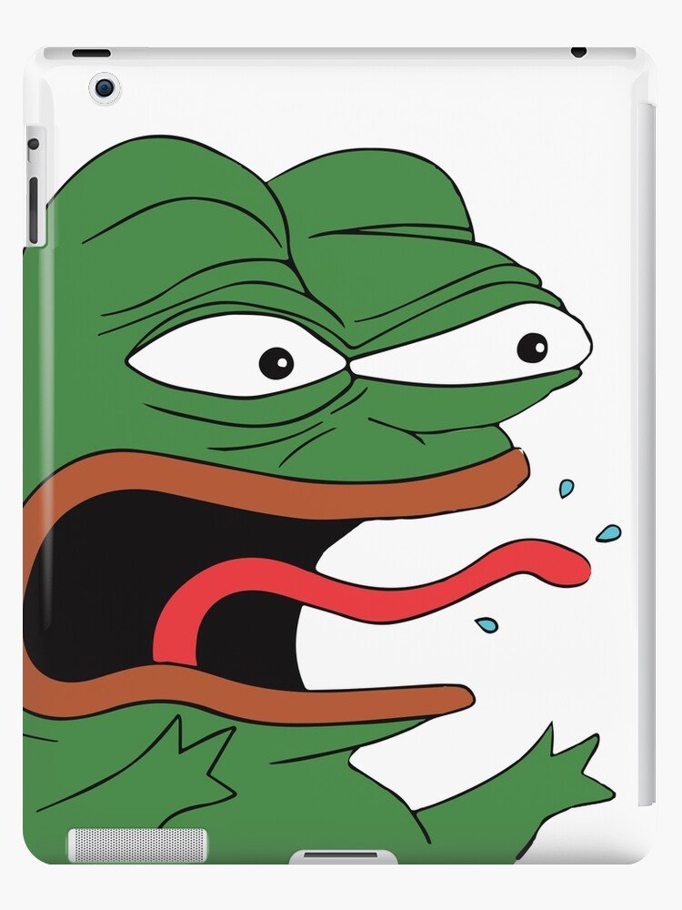 Pepe The Frog Mad Angry Raging And Screaming Ree With Tongue Out
